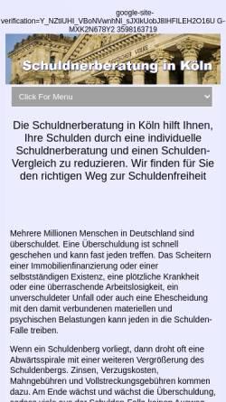 Vorschau der mobilen Webseite www.schuldnerberatung-Koeln.net, Kanzlei Lukas