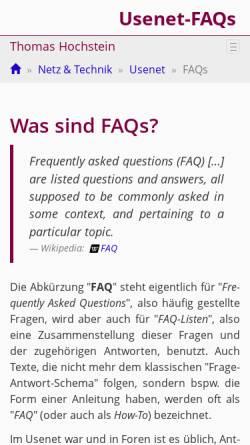 Vorschau der mobilen Webseite th-h.de, [de.admin.net-abuse.mail] FAQ-Sammlung