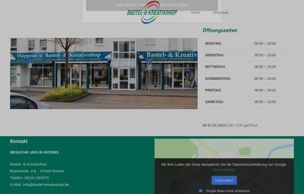 Vorschau von www.bastel-kreativshop.de, Hüppner's Bastel- & Kreativshop
