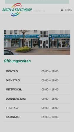 Vorschau der mobilen Webseite www.bastel-kreativshop.de, Hüppner's Bastel- & Kreativshop