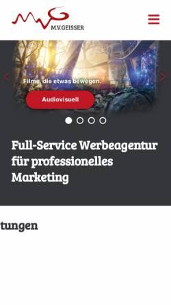 Vorschau der mobilen Webseite www.mvgeisser.de, MV Geisser GmbH