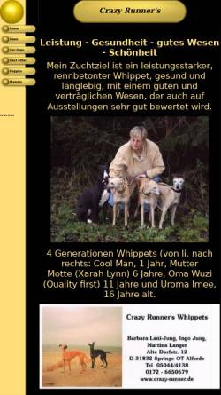 Vorschau der mobilen Webseite www.crazy-runner.de, Crazy Runner's