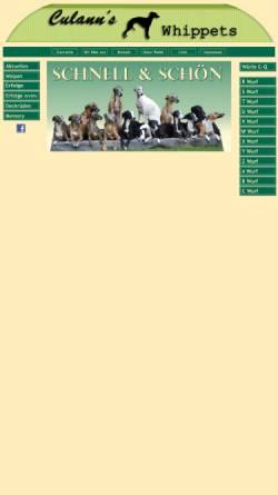 Vorschau der mobilen Webseite www.culanns-whippets.de, Culann's