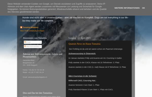 Vorschau von tumainiawhippets.blogspot.com, Tumainia