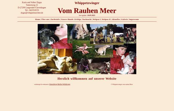 Vorschau von www.whippetzuechter.de, Vom rauhen Meer