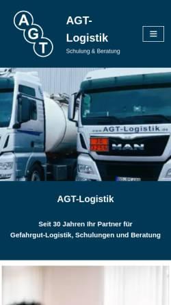 Vorschau der mobilen Webseite www.agt-logistik.de, AGT-Logistik, Thomas Papenbrock