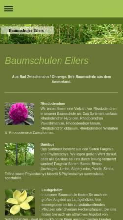 Vorschau der mobilen Webseite www.eilers-baumschulen.de, Baumschulen Friedrich Eilers