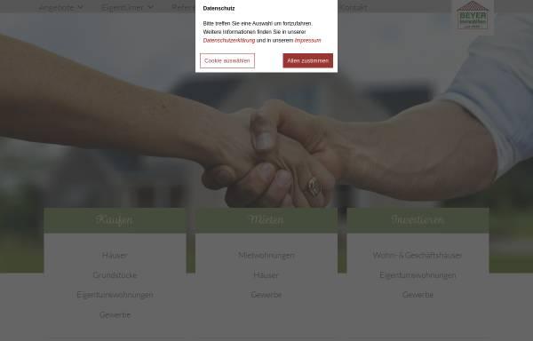 Vorschau von www.beyer-immobilien.de, BEYER Immobilien (VDM)