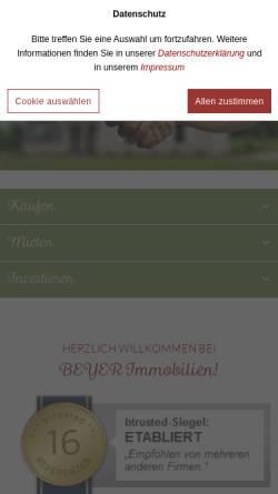 Vorschau der mobilen Webseite www.beyer-immobilien.de, BEYER Immobilien (VDM)