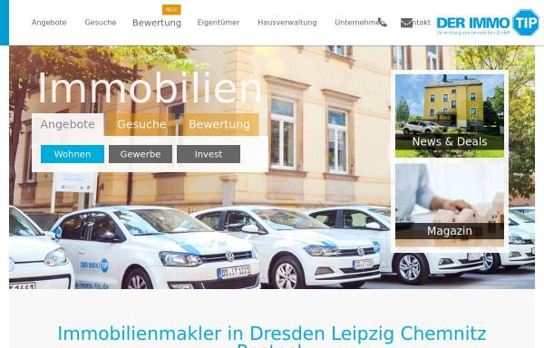 Vorschau von www.der-immo-tip.de, DER IMMO TIP, Vermittlung von Immobilien GmbH