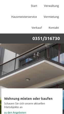 Vorschau der mobilen Webseite www.knott-hausverwaltung.de, Knott GmbH