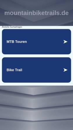 Vorschau der mobilen Webseite www.mountainbiketrails.de, Mountainbike Trails