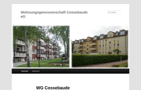 Vorschau von wg-cossebaude.de, Wohnungsgenossenschaft Cossebaude eG