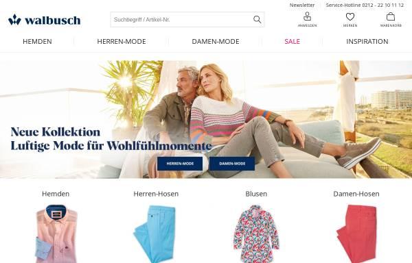 Vorschau von www.walbusch.de, Walbusch Walter Busch GmbH & Co. KG