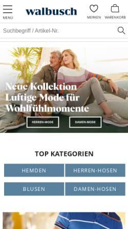 Vorschau der mobilen Webseite www.walbusch.de, Walbusch Walter Busch GmbH & Co. KG