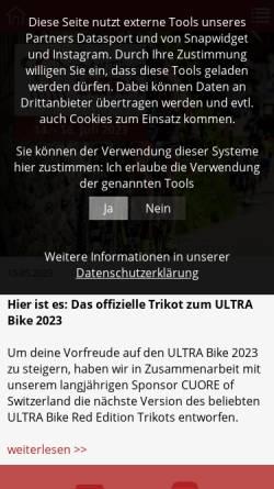 Vorschau der mobilen Webseite www.ultra-bike.de, Black Forest Ultra Bike Marathon