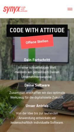 Vorschau der mobilen Webseite synyx.de, Synyx GmbH & Co. KG - Open Source Solutions