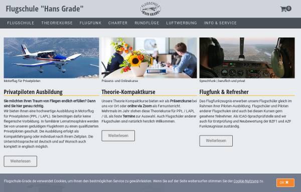 Vorschau von www.flugschule-grade.de, Flugschule Hans Grade GmbH