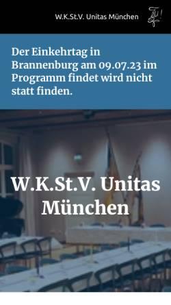 Vorschau der mobilen Webseite www.unitas-muenchen.de, Unitas München