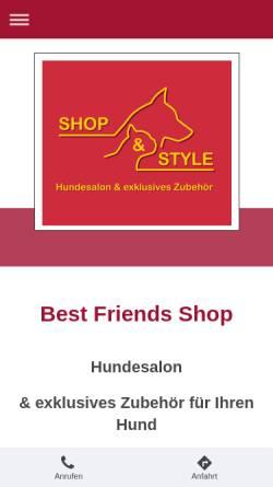 Vorschau der mobilen Webseite www.best-friends-shop.de, Best Friends Shop