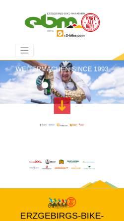 Vorschau der mobilen Webseite www.erzgebirgs-bike-marathon.de, Erzgebirgs-Bike-Marathon