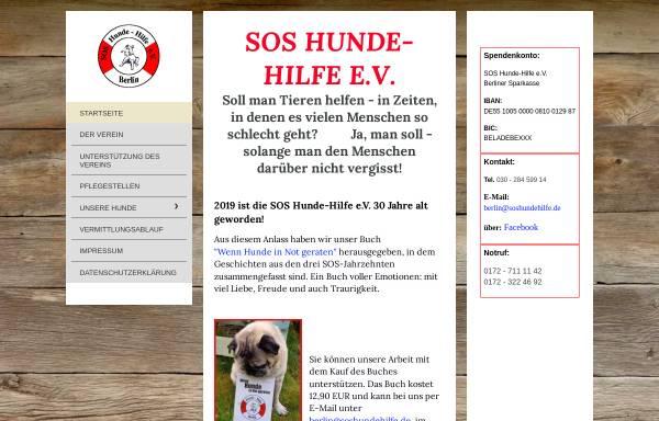 Vorschau von www.soshundehilfe.de, SOS Hundehilfe Berlin e.V.