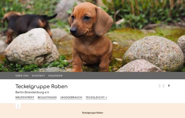 Vorschau von teckelgruppe-raben.de, Teckelgruppe Raben