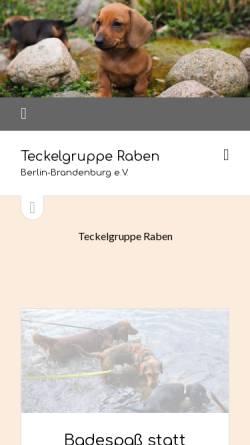 Vorschau der mobilen Webseite teckelgruppe-raben.de, Teckelgruppe Raben