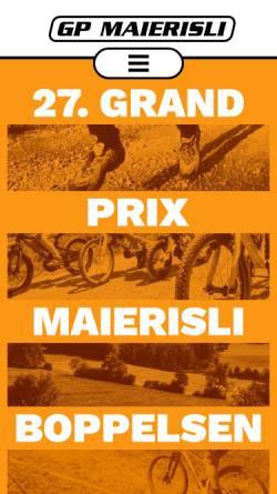 Vorschau der mobilen Webseite www.gpmaierisli.ch, GP Maierisli in Boppelsen, Schweiz