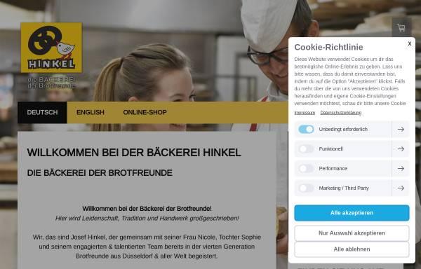 Vorschau von www.baeckerei-hinkel.de, Bäckerei Josef Hinkel