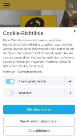 Vorschau der mobilen Webseite www.baeckerei-hinkel.de, Bäckerei Josef Hinkel