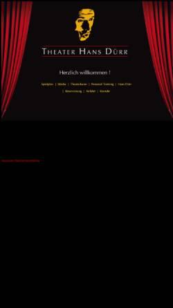Vorschau der mobilen Webseite www.theater-duerr.de, Freiburg, Theater Hans Dürr