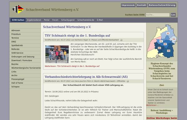 Vorschau von www.svw.info, Schachverband Württemberg e. V.