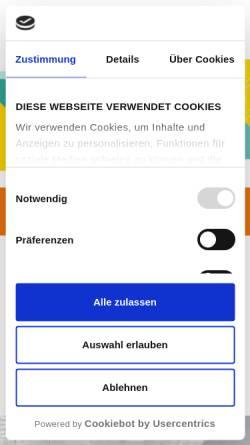 Vorschau der mobilen Webseite www.city-galerie.de, Werbegemeinschaft City Galerie