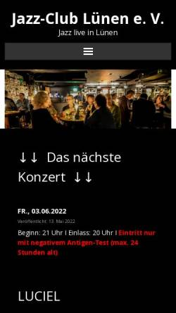 Vorschau der mobilen Webseite www.jazzclub-luenen.de, Jazzclub Lünen