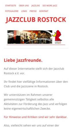 Vorschau der mobilen Webseite www.jazzclub-rostock.de, Jazzclub-Rostock