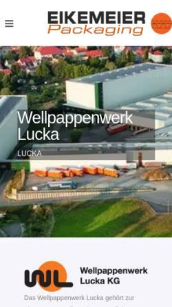 Vorschau der mobilen Webseite www.wellpappenwerk-lucka.de, Wellpappenwerk Lucka GmbH