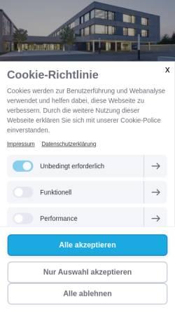 Vorschau der mobilen Webseite www.bs-lauingen.de, Berufsschule Lauingen