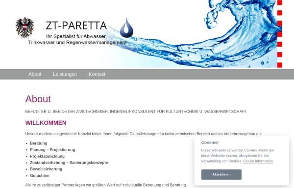 Vorschau von www.paretta.at, Paretta Werner, DI
