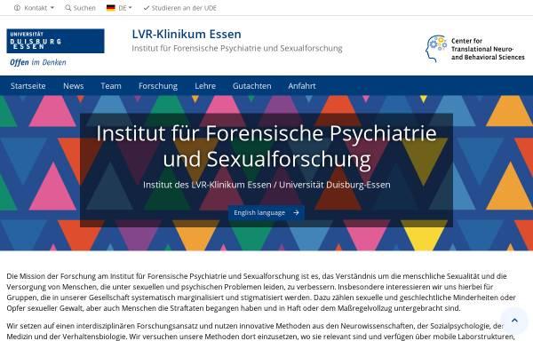 Vorschau von www.uni-due.de, Institut für Forensische Psychiatrie Essen