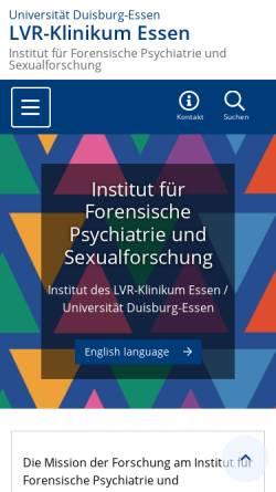 Vorschau der mobilen Webseite www.uni-due.de, Institut für Forensische Psychiatrie Essen