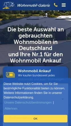 Vorschau der mobilen Webseite www.wohnmobil-galerie.de, Wohnmobil-Galerie GmbH