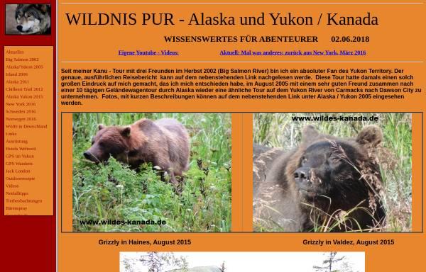 Vorschau von www.wildes-kanada.de, Wildnis Pur - Der Yukon [Wolfgang Heinz]
