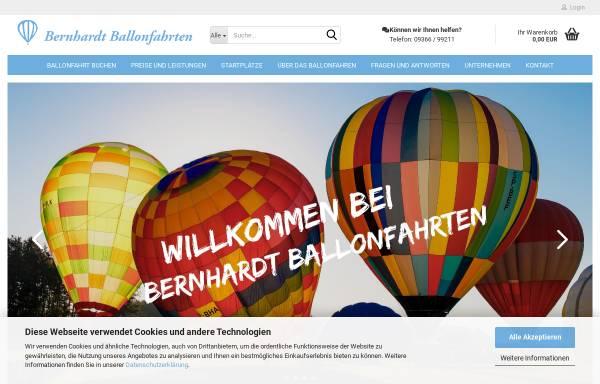 Vorschau von www.bernhardt-ballonfahrten.de, Ballonfahrten im Heißluftballon über Bayern und Sachsen