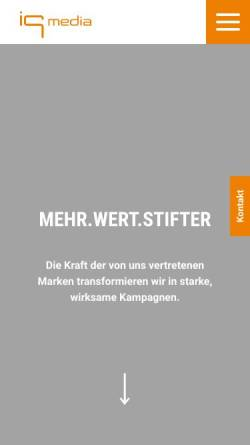 Vorschau der mobilen Webseite www.gwp.de, GWP Media-Marketing