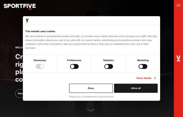 Vorschau von www.sportfive.com, Sportfive GmbH & Co. KG