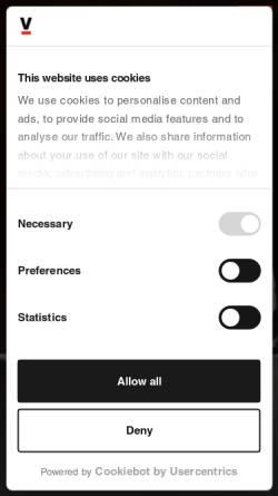 Vorschau der mobilen Webseite www.sportfive.com, Sportfive GmbH & Co. KG