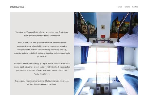 Vorschau von www.wagonservice.sk, Wagon Service travel, s. r. o.
