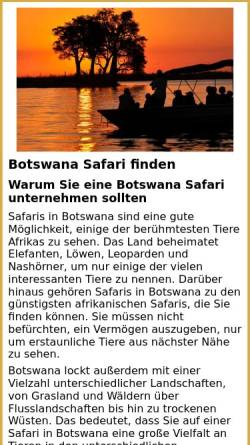 Vorschau der mobilen Webseite www.botswana-safari.de, AFRI-Reisen