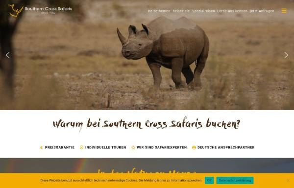 Vorschau von southern-cross-safaris.com, Southern Cross Safaris